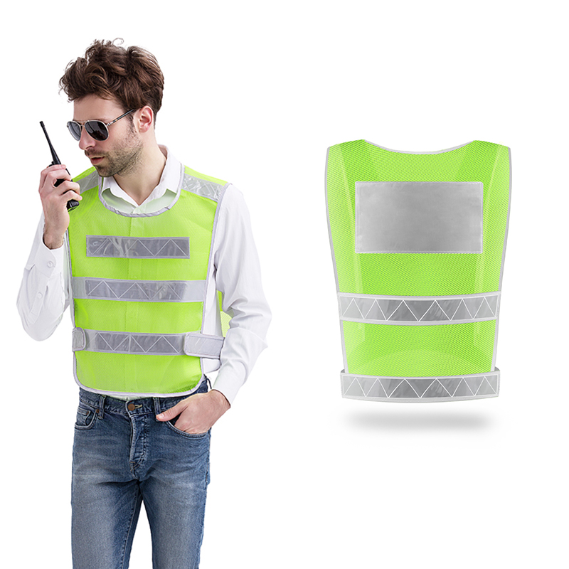 Police Vests Safety Reflective Signal Work Clothes Construction Grid Vest High Visibility Jacket Safety Protective Clothing