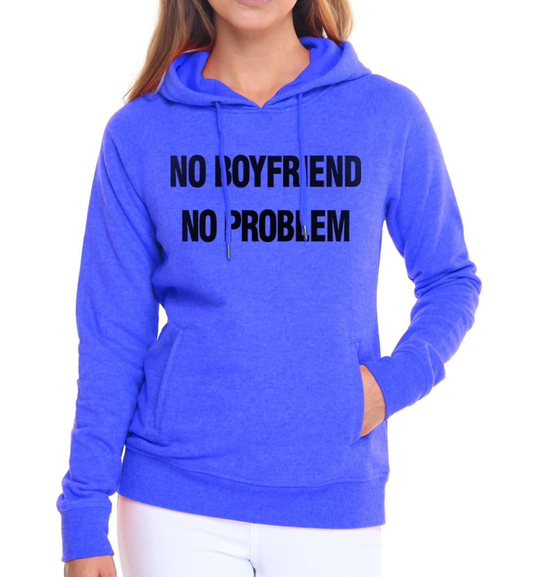 pullovers autumn winter 2019 NO BOYFRIEND NO PROBLEM women sweatshirts fashion harajuku brand tracksuits Casual kpop hoodies mma