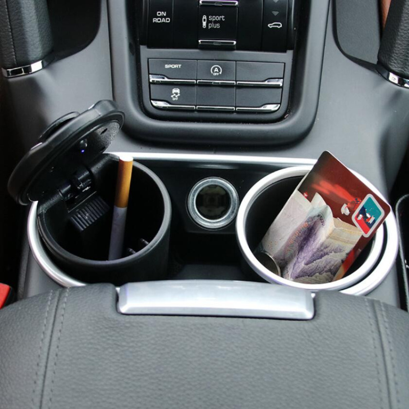 Car Led Ash Tray Ashtray Storage Cup For Land Rover LR4 LR3 LR2 Range Rover Evoque Defender Discovery Freelander Accessories