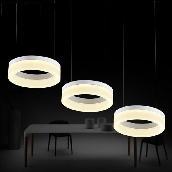 Original design led round/ square restaurant chandelier acrylic series 3 lampshades lamp D50cm