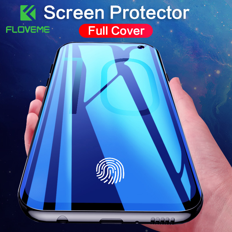 FLOVEME 3D Curved Full Cover Screen Protector for Samsung Galaxy Note 10 Plus S8 S9 S10 Plus S10E Note 9 8 Soft Film Not Glass