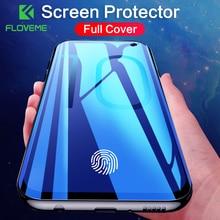 FLOVEME Protector de pantalla de cobertura completa para Samsung Galaxy S10, S8, S9, S10 Plus, S10e, Note 8, 9, 3D, película protectora suave curva, no cristal