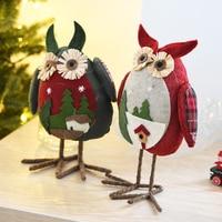 Nuovo Arrivo Di Natale Big Eye Gufo Peluche di Natale Ornamento Casa Partito Decor Decorazioni Per La Casa Scherza il Regalo Di Natale Bambola Di Natale