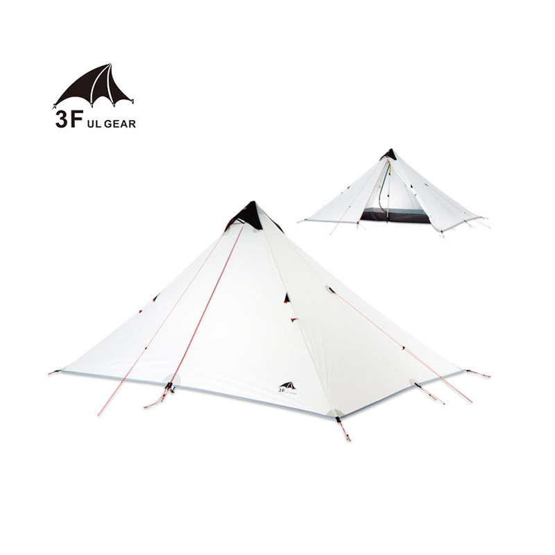 3F UL GEAR 1 5 Person Oudoor Ultralight Camping Tent 3 Season Professional 15D Silnylon Rodless