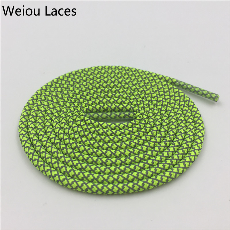 Weiou Safty Round Boot Shoe Laces Running Shoestrings Plastic Tips Factory Shoelaces Cheap 3m Latchet For Sneakers Boost 350&750