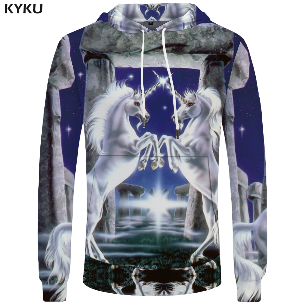 2ed66dcf93d5 KYKU Unicorn Sweatshirt Women Dream Hoodies Galaxy Casual Funny Sweatshirts  3D Hoodie Long Sleeve Large Size Big sweatshirt 3d