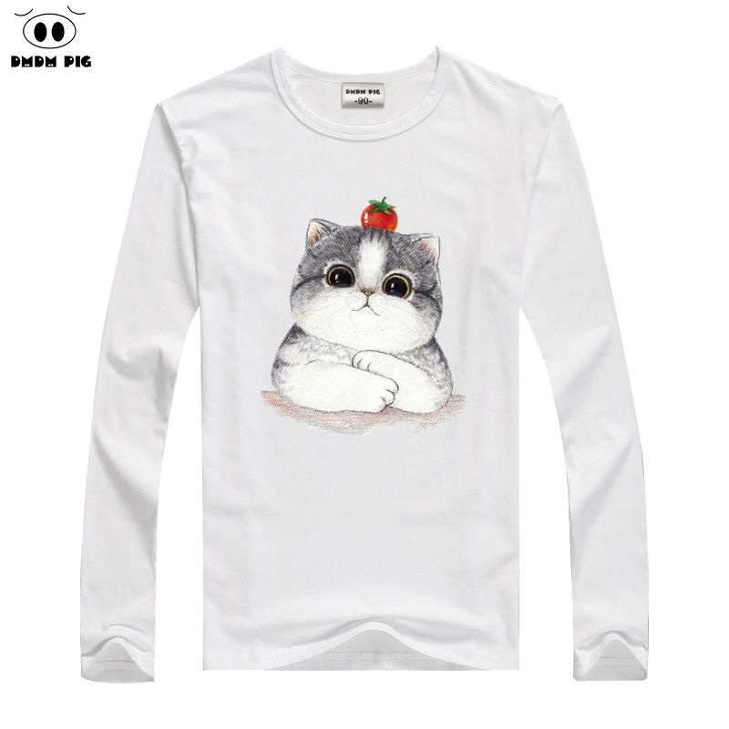 DMDM PIG 2019 hiver garçons T-Shirt bébé filles vêtements dessin animé chat à manches longues t-shirts pour enfants t-shirts Avengers 2 3 4 ans