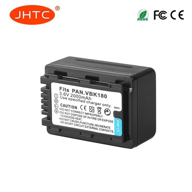 JHTC 1Pc 2000mAh VW-VBK180 VW VBK180 CameraBattery For Panasonic HC-V700MGK HC-V10GK HC-V100GK HC-V100MGK HC-V500GK HC-V500MGK цена
