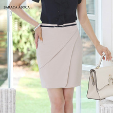SARACA ASOCA Spring Autumn Plus Size XXXL Career Slim Hip Bust Skirt Female Straight