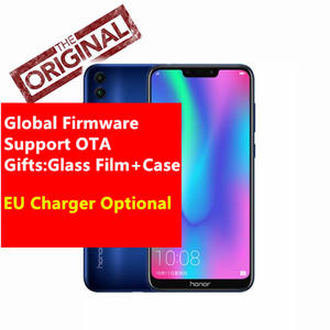 Global Firmware Honor 8C Cell phone Octa Core  6.26''Full Screen HD+1520x720 Qual-comm Snapdragon 632 Android 8.1 4000mAh 3 Slot
