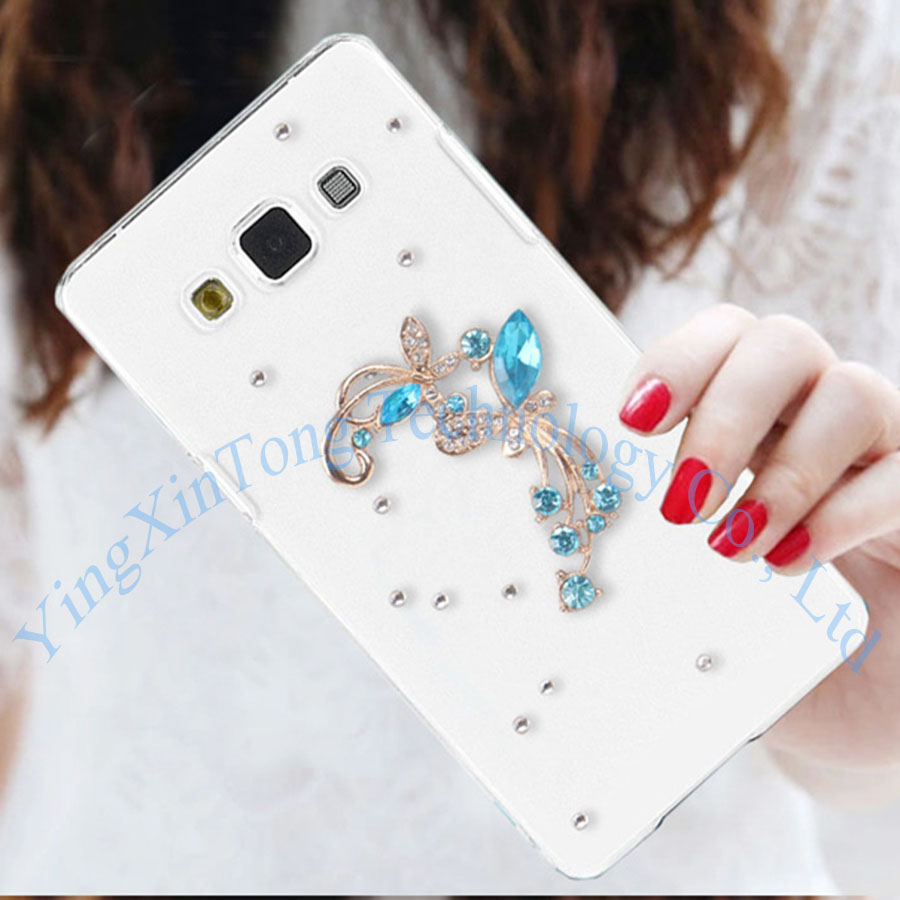 Luxury Bling Crystal Rhinestone Case For Samsung Galaxy A5 A7 2016 J3 J5 J7 2016 J2 Prime Clear Hard Beautiful Phone Back Cover in Rhinestone Cases from Cellphones Telecommunications