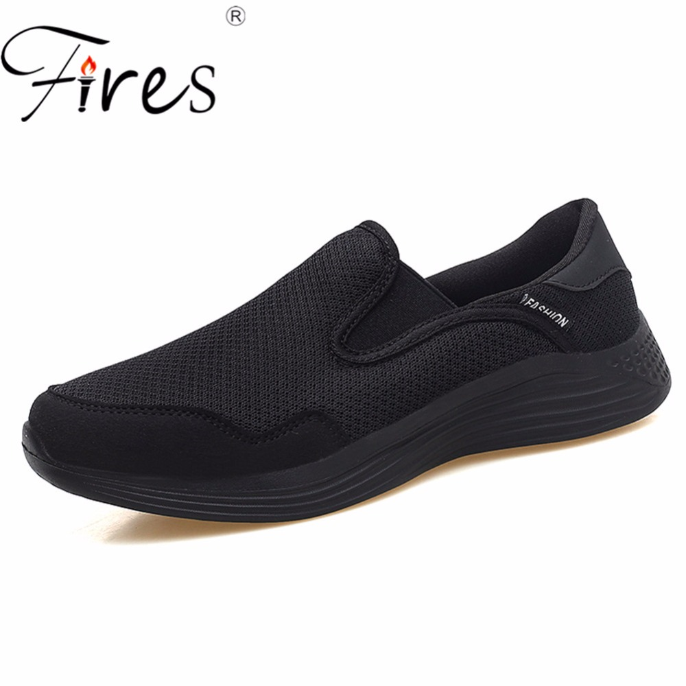 Fires Couple Running Sneakers Comfortable Soft Sport Shoes Unisex Outdoor Walking Shoes Shock Absorption Soles Men Sneaker