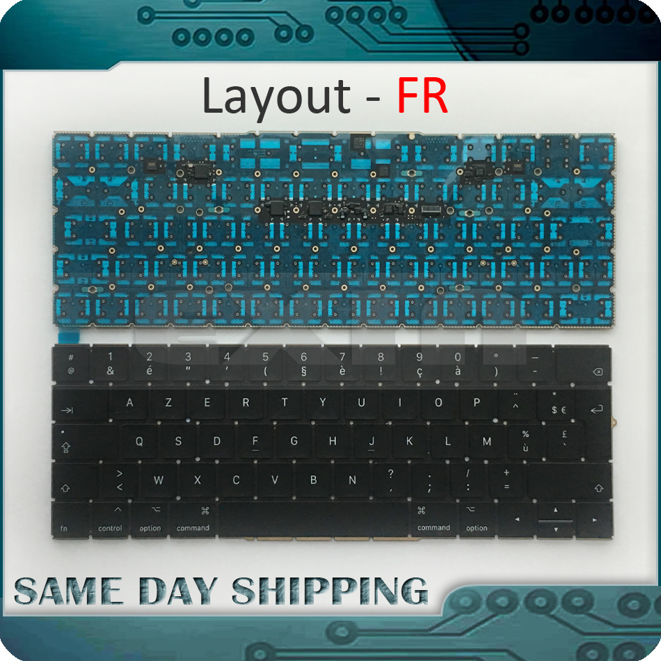New Laptop A1706 Keyboard French FR EU for MacBook Pro 13.3 Retina A1706 French AZERTY Keyboard UERO 2016 2017 Year new notebook laptop keyboard for dell studio 15 1535 1536 1537 0kr770 backlit french layout
