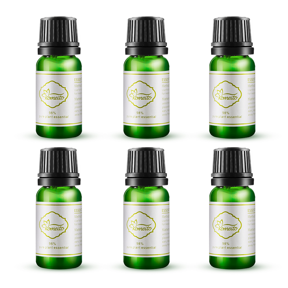 EASEHOLD 10ml 98% Pure and Natural Essential Oil Premium Fragrance Oil Aroma Oil for Stress Relief Humidifier Oil with 6 Kinds pure and natural 250 1090415