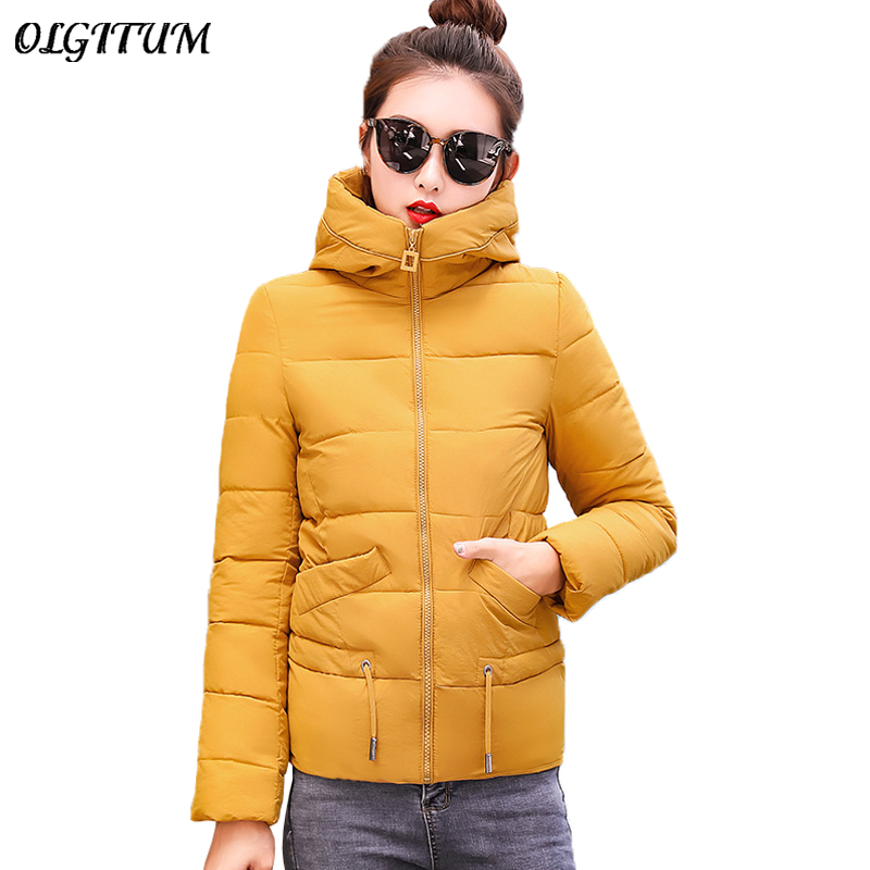 Winter Coat Women Casual Short Down Cotton Jacket Plus Size M-3XL Korean Slim   Parkas   2019 New Sweet Cute Brand Winter Outwear