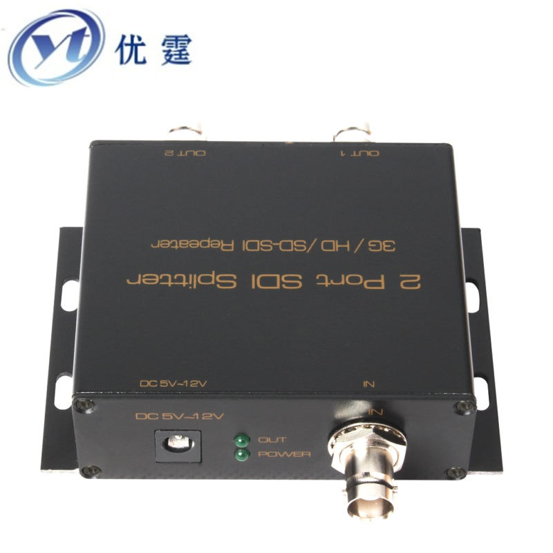 SDISP0102 2 Port SDI Splitter 1x2(3G HD SD SDI TO Repeater)Coaxial RG-6 transmit 100m 1080P60HZ lkv364 sdi to bnc repeater 1080p 720p sd sdi hd sdi 3g sdi distribute to 2 simultaneous sdi outputs sdi converter splitter