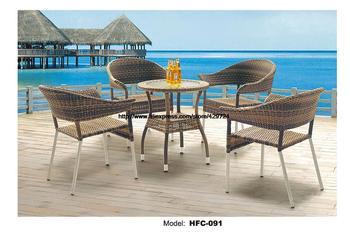 Modern Tasarım Tatil Eğlence Deniz Plaj Yüzme Havuzu Gardern Mobilya Rattan Küçük 1 Masa 4 Sandalye Bahçe Seti Mobilya Rattan