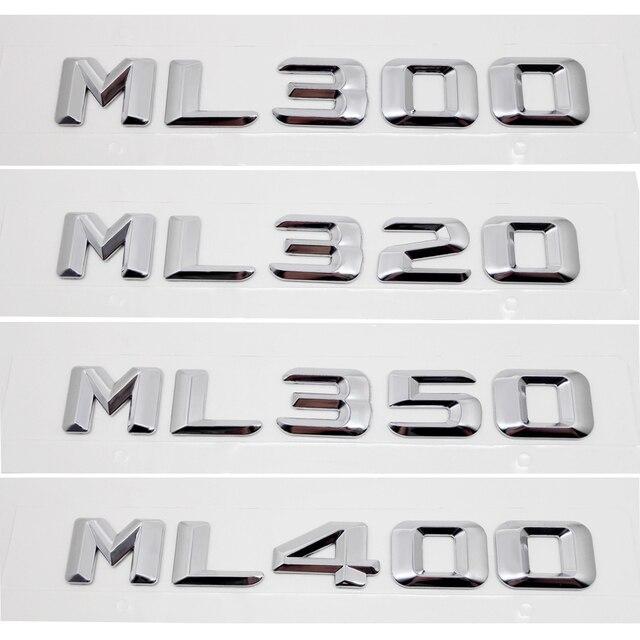 Auto Aufkleber Für Mercedes Benz Ml Klasse Ml300 Ml320 Ml350 Ml400 W163 W164 W166 Hinten Stamm Emblem Buchstaben Aufkleber Zubehör