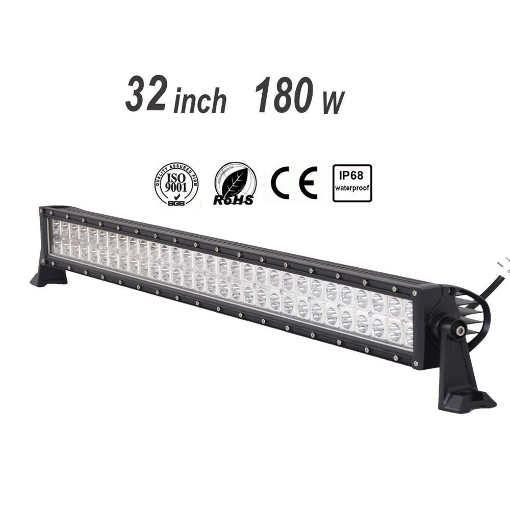32 Inch LED Light Bar180W  LED Work Lights Combo LED Driving Lights  Off Road Lights Boat Lighting 2 Year Waranty