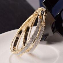 Американские серьги в стиле ретро, матовое кольцо для ушей, очаровательные модные аксессуары, кольцо для ушей, элегантное классическое круглое Горячее предложение