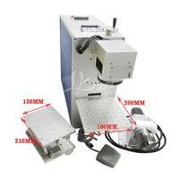 10 Вт/20 Вт оптического волокна лазерная гравировка машина с ось вращения для 3D маркировки металла