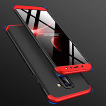 360 Degree Full Protection Case For Samsung Galaxy A6 Plus A6+ Cover shockproof case + glass film