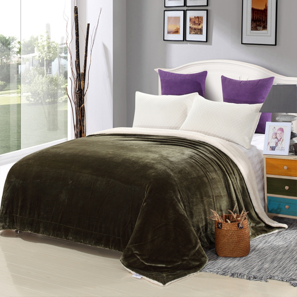 compare prices on modern bedspreads online shoppingbuy low price  - green solid color fleece blanket on the bedmultisize adults bedspread forhome