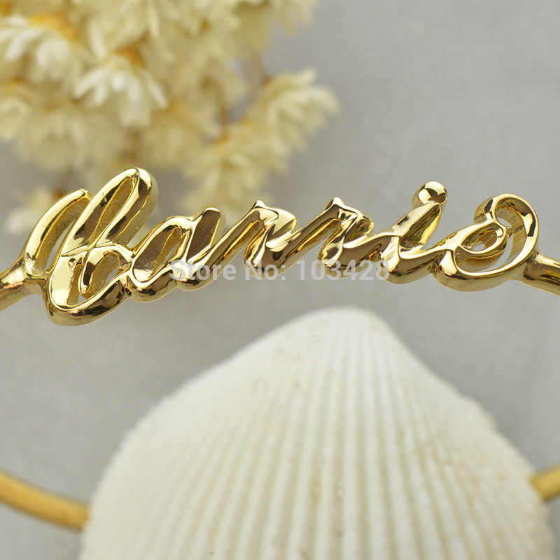 b3f7bd285 AILIN 3D Carrie Name Bracelet Gold Color Personalized 3D Name Bracelet  Unique 3D Bracelet with Name Special 3D Jewelry-in Wrap Bracelets from  Jewelry ...
