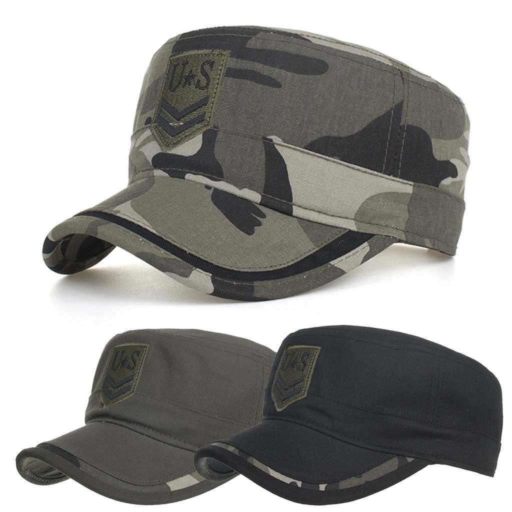 c22020bd6 Detail Feedback Questions about Classic Flat Top Men Caps Hat Cotton ...