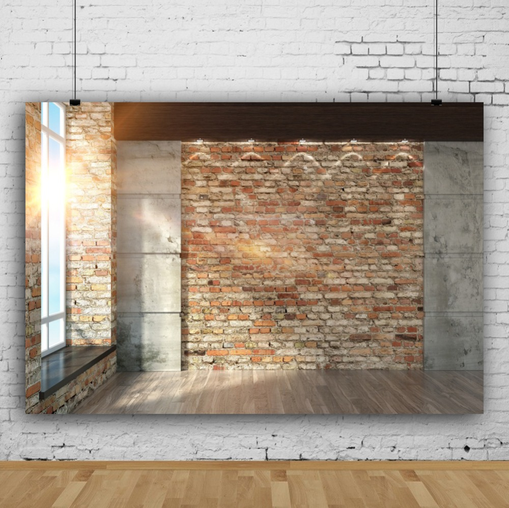 Laeacco Sunshine Window Bakstenen muur Interieur Fotografie - Camera en foto - Foto 2