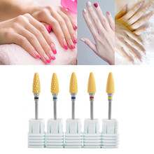 Best Quality 1PC Yellow Nano Coated Carbide Nail Drill Bit Gel Remove Polishing Manicure Tool Wholesale Gift Dropshipping