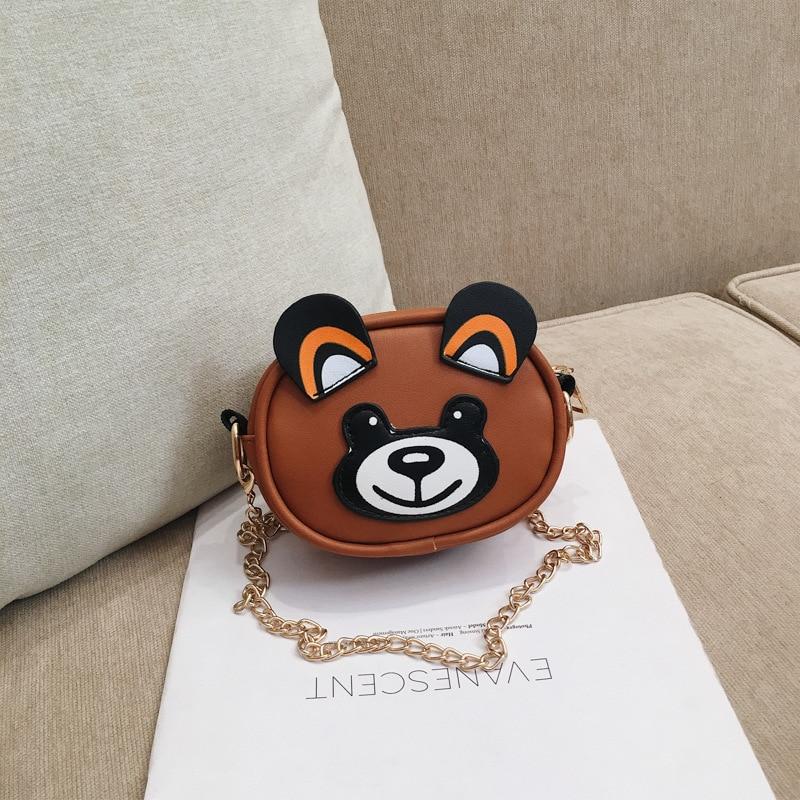 Lovely Baby Girls Mini Messenger Bag Cute Animal Bear Kids Small Coin Purses Children Handbags Shoulder Bags