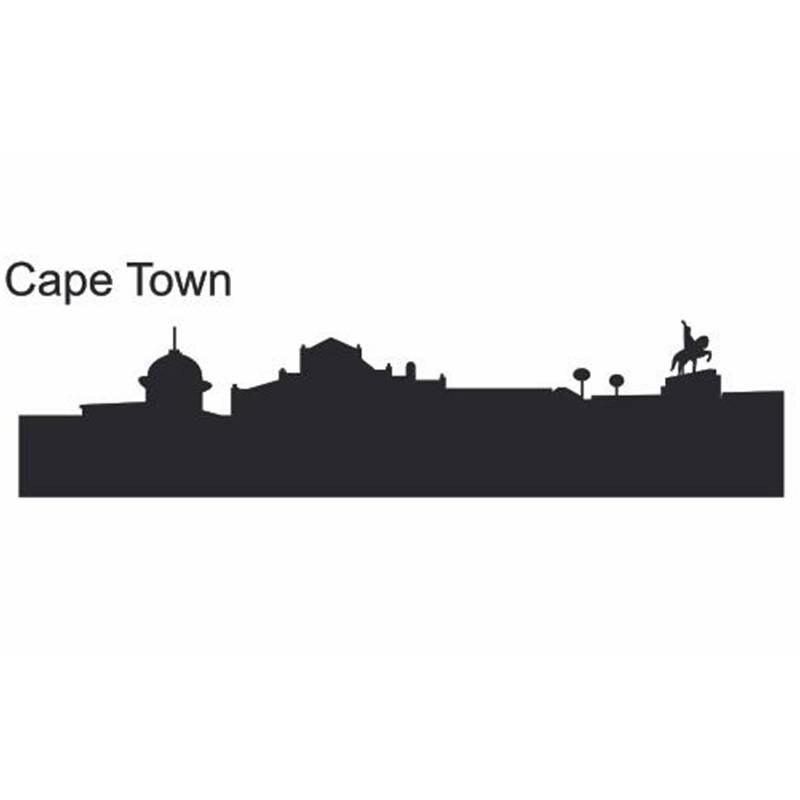 Кейптаун город этикета ориентир Skyline Наклейки на стену эскиз плакат  Parede Домашний Декор Стикеры 44df8564729