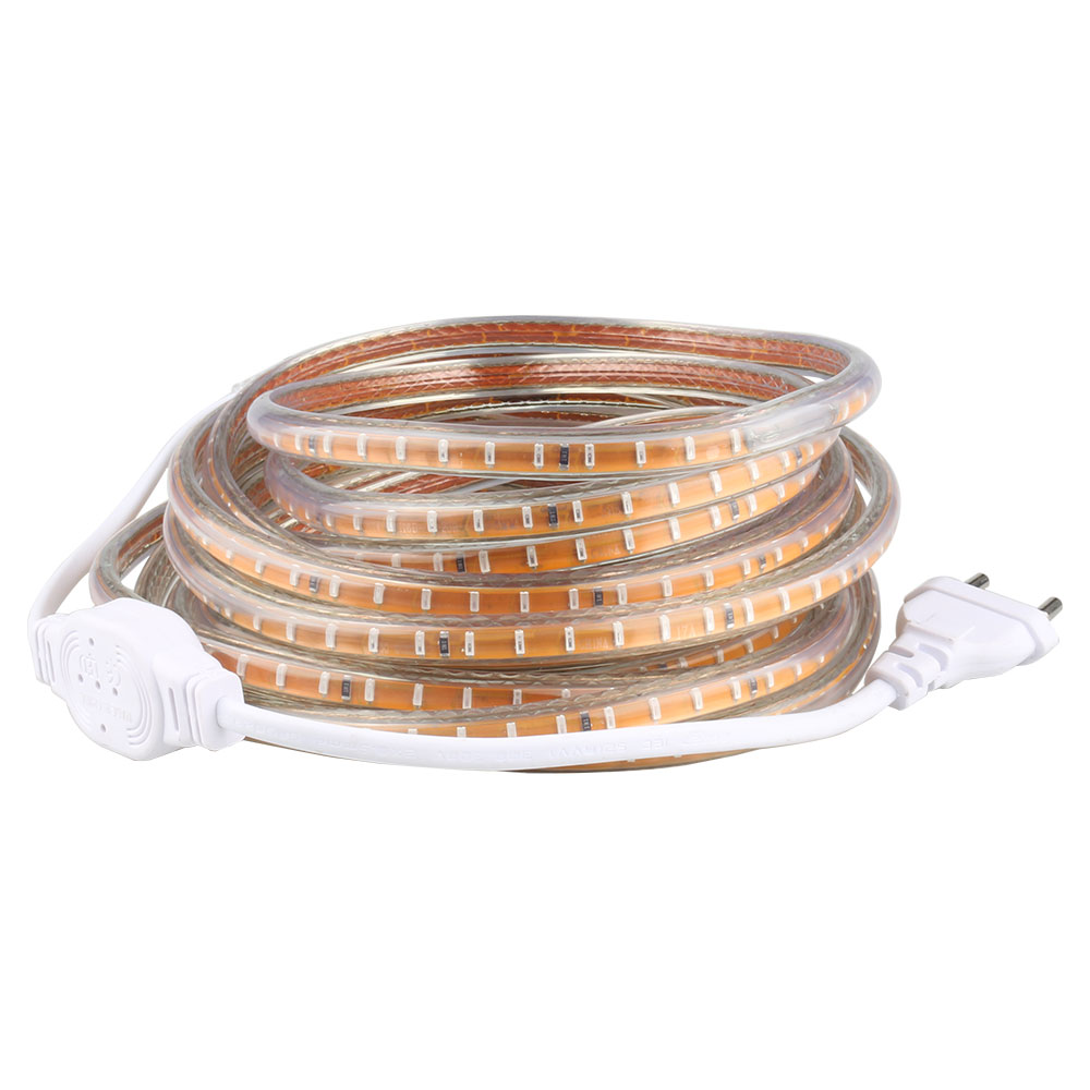 SMD 3014 AC220V led strip light 120 LED / m IP67 impermeabili strisce led con spina di alimentazione UE illuminazione flessibile per la festa di casa