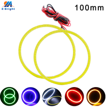 1 Pair 100mm 9V-30V COB 72 SMD Colorful RGB LED Car Halo Rings Light Waterproof Angel Eyes Headlight for Universal