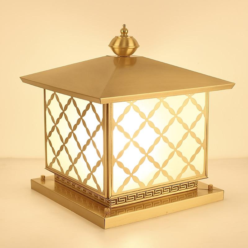 Europe modern copper lamp waterproof outdoor light garden villa landscape lighting