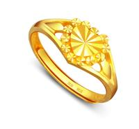 Pure 24K Yellow gold Ring new designer heart ring 3.5g