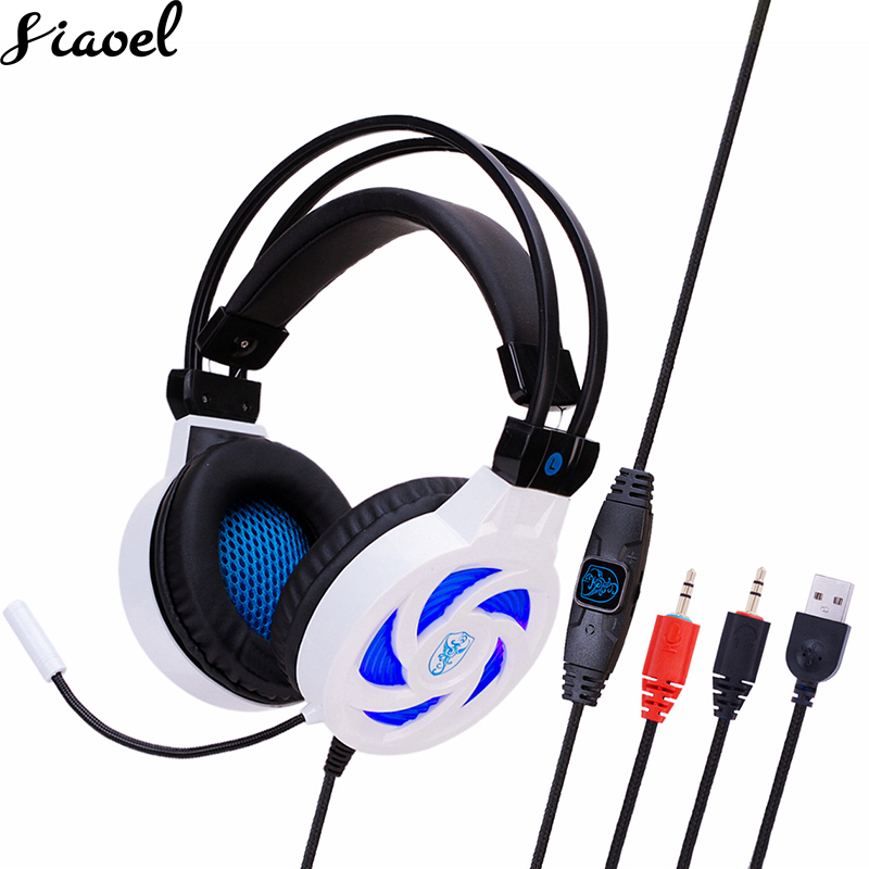 Gaming Headset Stereo Havy Bass Game Headphone Wire Gamer Headset With Microphone Glowing LED Headphone For Computer PC
