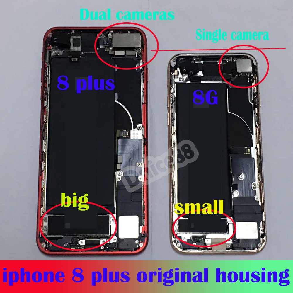 For iphone 8 plus Original mobile phone housing Includes rear camera, ringtone, tail plug and so on,good quality housing