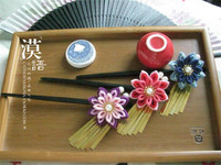 Japanese Anime Women Fashion Gold Flower Headband Chain Head Piece Hair Band Hair Jewelry O
