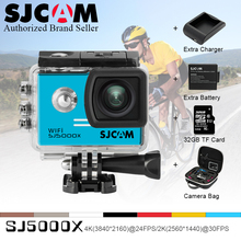 Original SJCAM SJ5000X Elite WiFi 4K 24fps 2K 30fps Gyro Sports DV 2.0 NTK96660 Waterproof SJ 5000 VS go pro wifi Action Camera