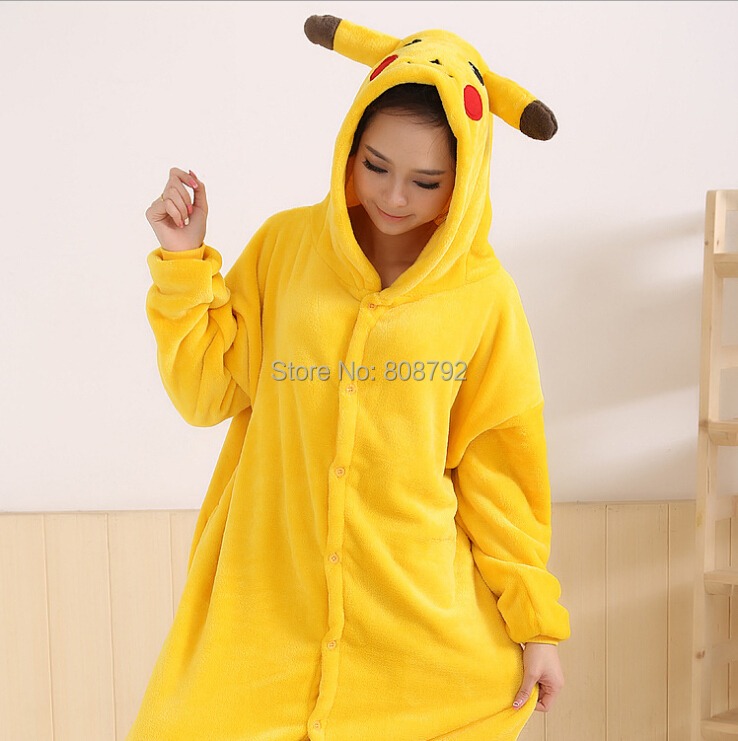 anime pajamas adult pokemon pikachu onesie fantasias costume mascot pikachu halloween cospaly costumes for women and men in mens costumes from novelty - Pikachu Halloween Costume Women