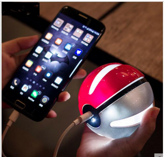 Pokeball pokemon go power bank 10000 mah bonito pokébola para iphone samsung huawei powerbank carregador de bateria externa