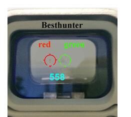 <font><b>558</b></font> Holographic <font><b>Red</b></font> Green <font><b>Dot</b></font> Sight Tactical Rifle Scope With 20mm Scope Mounts image