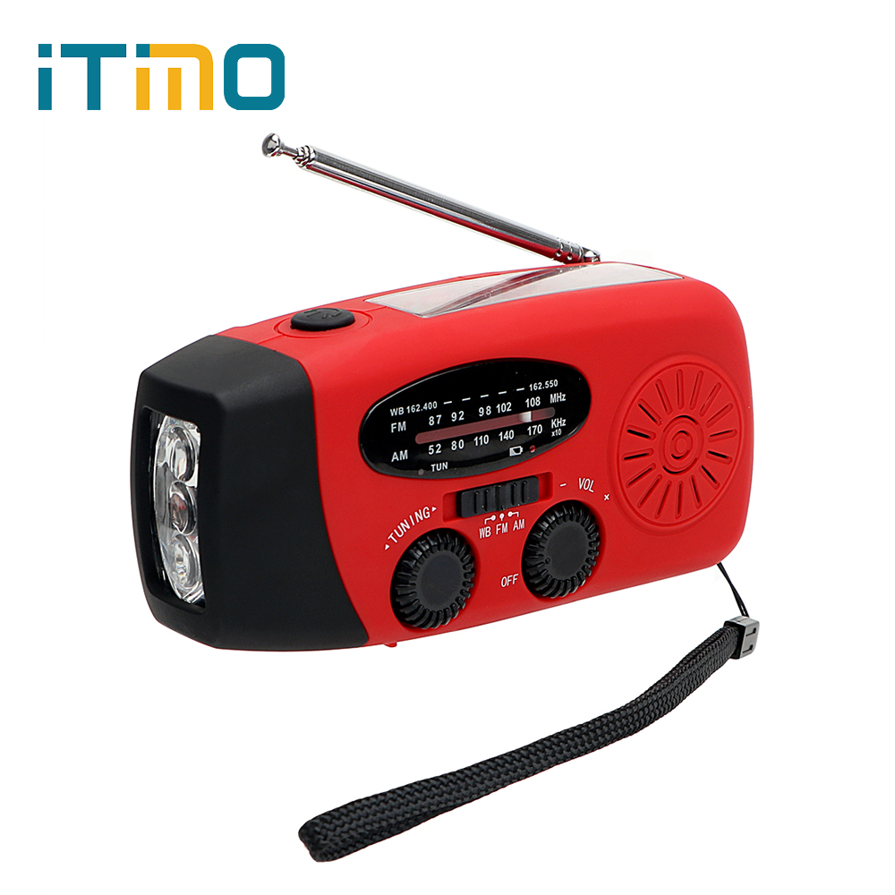 3 in 1 LED Flashlight FM/AM Radio Emergency Charger Solar Powered Dynamo Hand Crank Generator Phone Chargers Hot Sale multifunctional crank dynamo am fm hand crank solar radio usb mobile phone charger led torch flashlight blutooth speaker