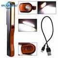 Перезаряжаемый мини COB светодиодный Рабочий фонарь  магнитный USB ручной фонарик с зажимом для ручки  Рабочий фонарь для кемпинга  треккинга  ...