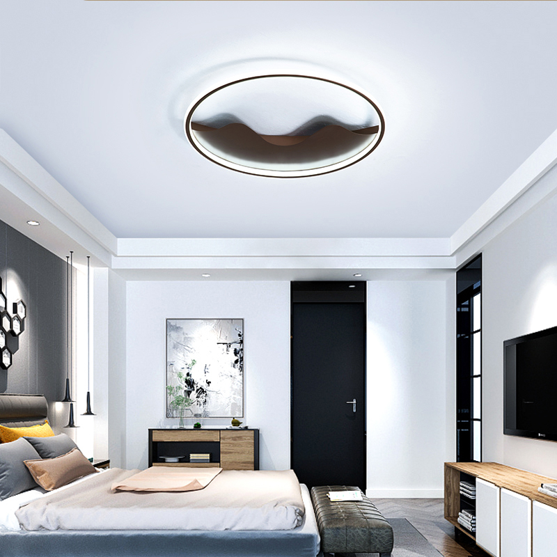 Surface Mounted Round Modern Led Ceiling Lights For Living room Bedroom Hallway White Black Lustre Ceiling Lamp with remote цена