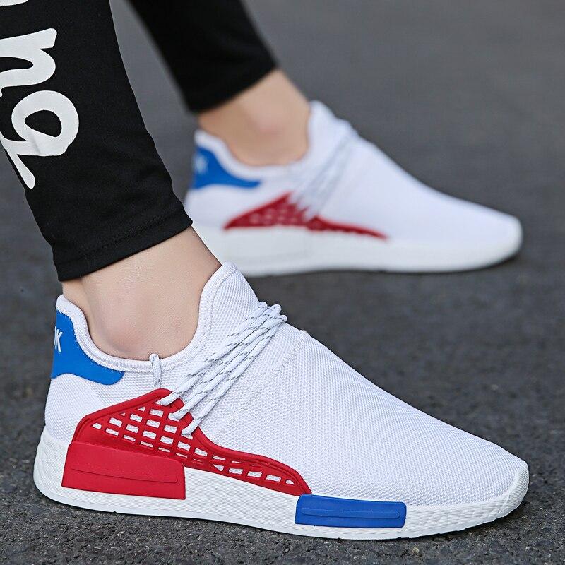 Cortiça 2019 Homens Sapatos Casuais Homens Sapatos de Malha de Ar Respirável Deslizamento em Meia Verão Homens Sapatos Sapatilhas Tenis Masculino Adulto luz