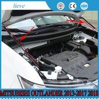 2x Suporte Haste Hidráulica Tampa Do Motor Capô Estilo Acessórios Do Carro Para Mitsubishi Outlander 2013-2017 2018