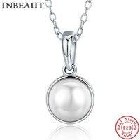 INBEAUT Trendy Collier Solide 925 Sterling Silver Pearl Pendentif Femmes De Mode Engagement Charme fit Pandora Bracelet DIY Bijoux